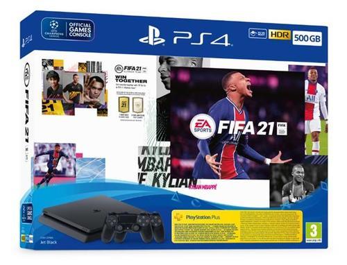 Playstation 4 Slim 500GB + 2 Controllers FIFA 21 BUNDLE